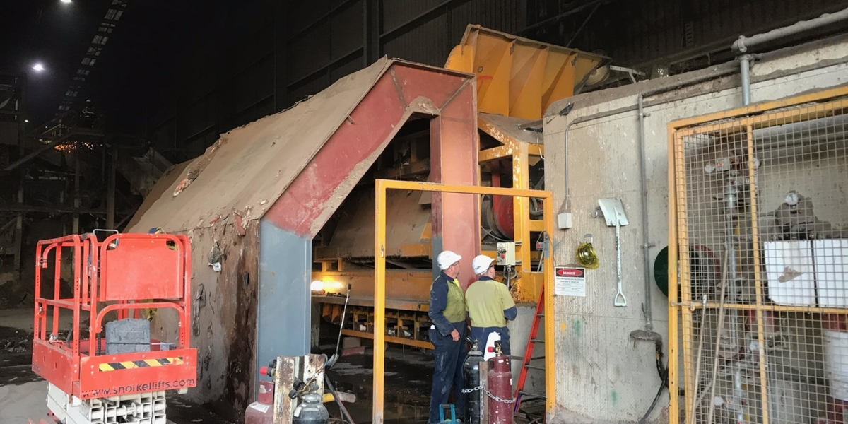 Recycling Plant Shredder Installation